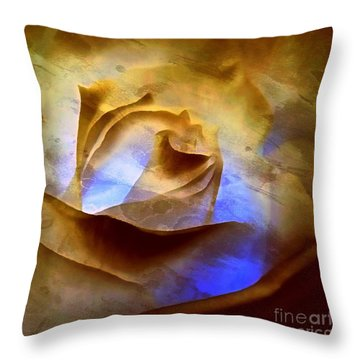 Throw Pillow featuring the photograph Rosebud - Till We Meet Again by Janine Riley