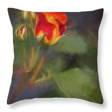 Rosebuds Throw Pillow by Billie-Jo Miller