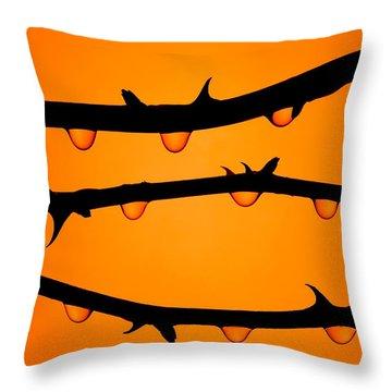 Rosebush Silhouette Throw Pillow