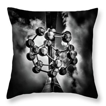 Throw Pillow featuring the photograph Rosehill Reservoir Foutain Sculpture Toronto Canada 1 by Brian Carson