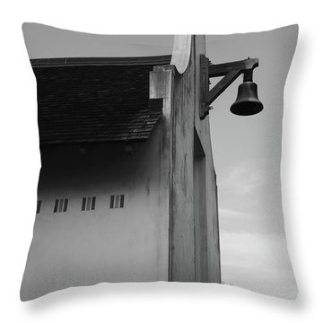 Rosemary Beach Post Office In Black And White Throw Pillow
