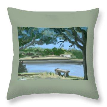 Rosemary Lake Throw Pillow