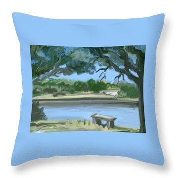 Rosemary Lake Throw Pillow by Jean Pacheco Ravinski