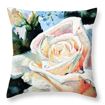 Roses 6 Throw Pillow by Hanne Lore Koehler