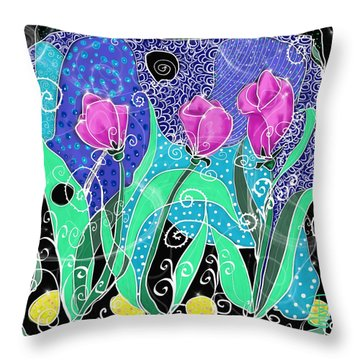 Roses And Lemons Throw Pillow