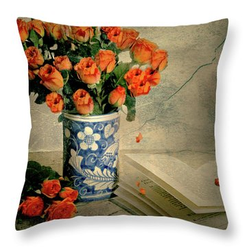 Roses And Read Throw Pillow