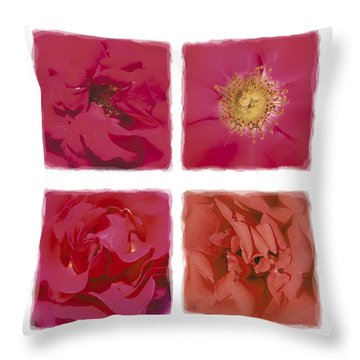 Roses Are Red .... Throw Pillow by Hazy Apple