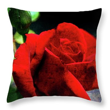 Roses Are Red My Love Throw Pillow by Susanne Van Hulst