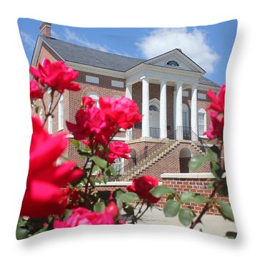 Roses At The Court House 1 Throw Pillow