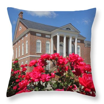 Roses At The Court House 3 Throw Pillow