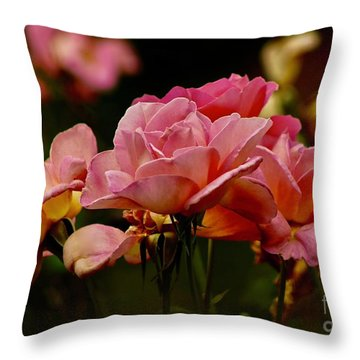 Roses By The Bunch Throw Pillow