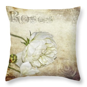 Roses Throw Pillow by Carolyn Marshall