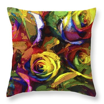 Roses Dream Throw Pillow