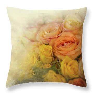 Roses For Mother's Day Throw Pillow by Eva Lechner