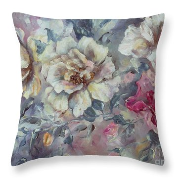 Roses From A Friend Throw Pillow