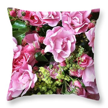Roses From The Garden Throw Pillow