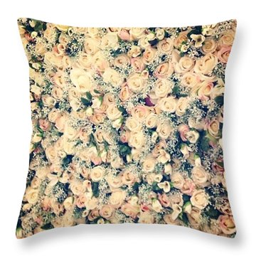 #roses #great #gorgeous #pink #flowers Throw Pillow