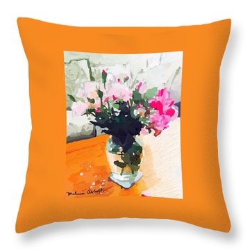 Roses In The Living Room Throw Pillow