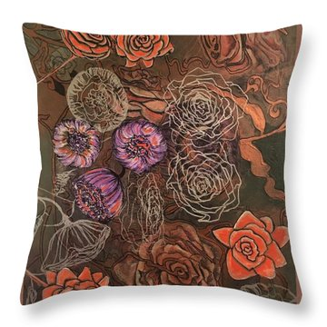 Roses In Time Throw Pillow
