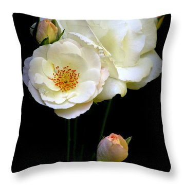 Throw Pillow featuring the photograph Roses by Irina Hays