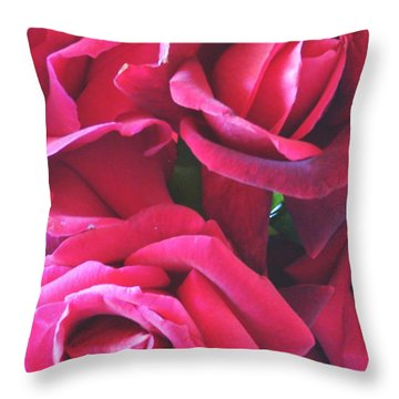 Roses Like Velvet Throw Pillow