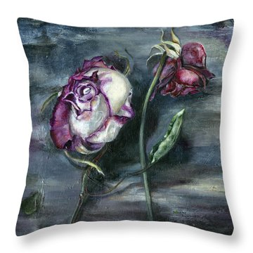 Roses Never Die Throw Pillow