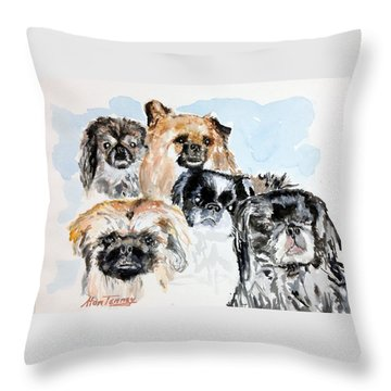 Rose's Pekingese Throw Pillow