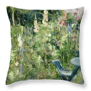 Roses Tremieres Throw Pillow