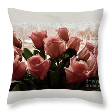 Roses With Love Throw Pillow