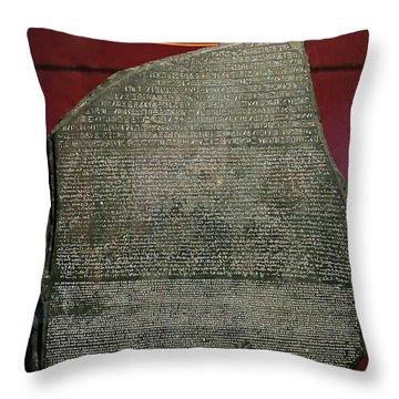 Rosetta Stone Replica Throw Pillow