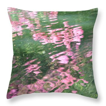 Rosey Ripples Throw Pillow
