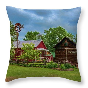 Rosholt Pioneer Park Throw Pillow by Trey Foerster