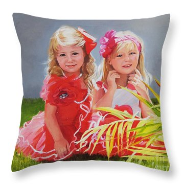 Rosie And Jaz Throw Pillow