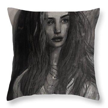 Rosie Huntington-whiteley Throw Pillow