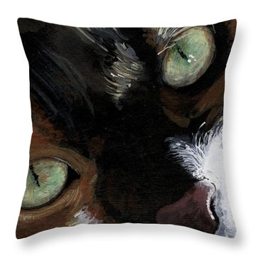 Throw Pillow featuring the painting Rosie by Mary-Lee Sanders