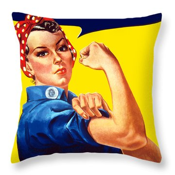 Rosie The Rivetor Throw Pillow