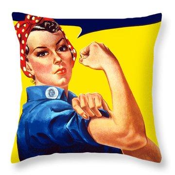 Rosie The Rivetor Throw Pillow