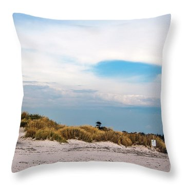 Rosignano Beach Throw Pillow