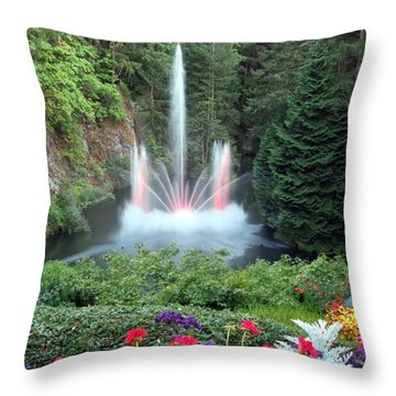Ross Fountain Throw Pillow by Betty Buller Whitehead