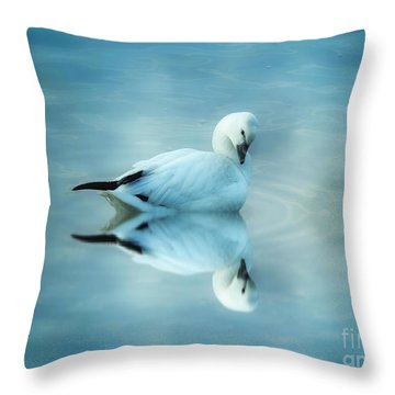 Ross Goose Throw Pillow by Suzanne Handel