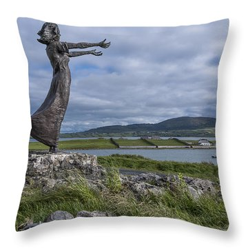 Rosses Point Sligo Throw Pillow