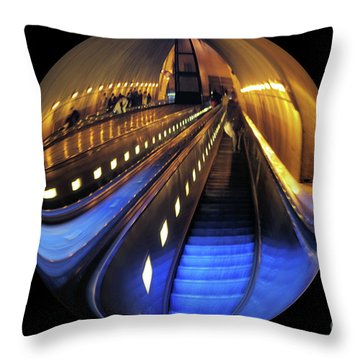 Rosslyn Metro Station Throw Pillow by John S