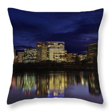 Rosslyn Skyline Throw Pillow
