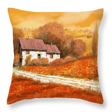 Rosso Papavero Throw Pillow