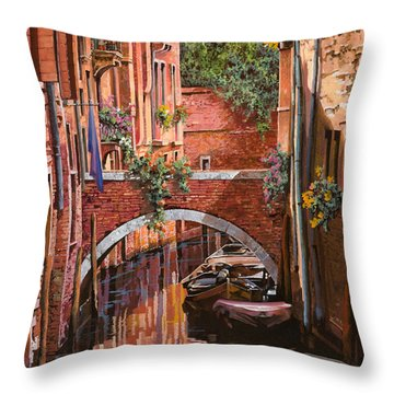 Rosso Veneziano Throw Pillow by Guido Borelli