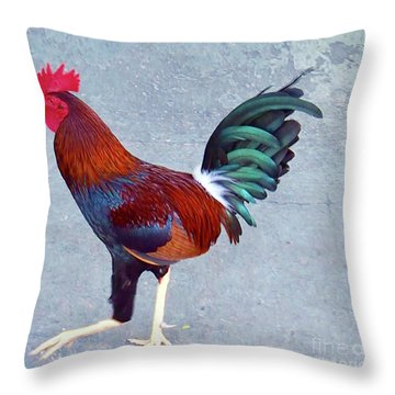 Roster In Costa Rica Throw Pillow