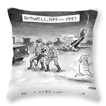 Roswell Nm 1947 Throw Pillow