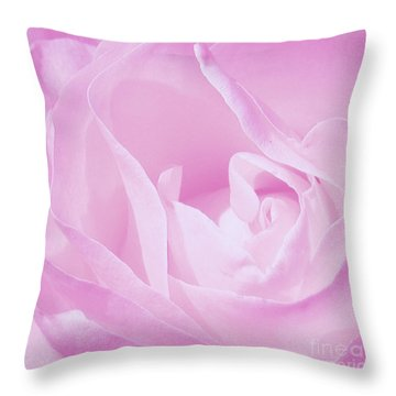 Rosy Cheek Pink Throw Pillow by Janice Westerberg