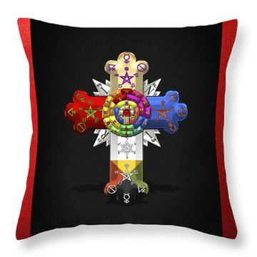 Rosy Cross - Rose Croix  Throw Pillow