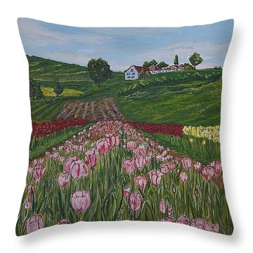 Walking In Paradise Throw Pillow by Felicia Tica